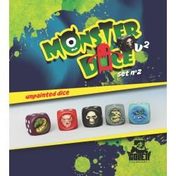 Unpainted MonsterDice set N°2
