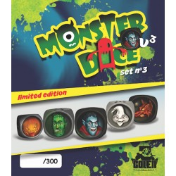 Painted MonsterDice (limited edition) set N°3