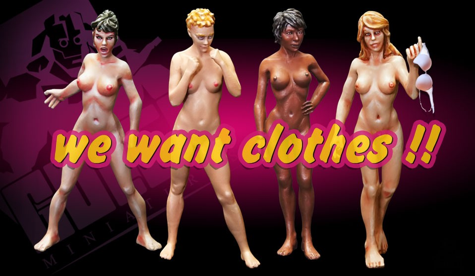 We want clothes!